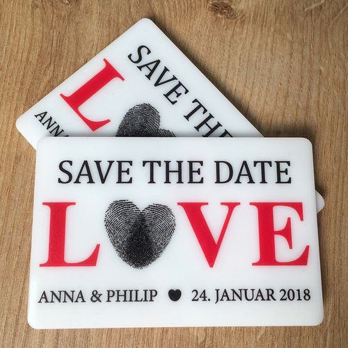 "Save the Date-Magnet ""Love - Fingerabdruck"" - Stückpreis ab 1,80 Euro"